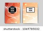 light orange vector template... | Shutterstock .eps vector #1069785032