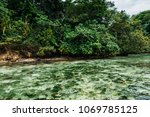 blue lagoon on jamaica | Shutterstock . vector #1069785125