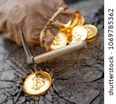 bitcoin mining concept with... | Shutterstock . vector #1069785362