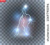 lightning  bright flashes ...   Shutterstock .eps vector #1069790096