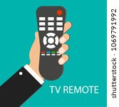 tv remote control. distance... | Shutterstock .eps vector #1069791992