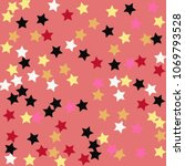 multicolored stars on a pink... | Shutterstock .eps vector #1069793528