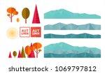 create your autumn mountain... | Shutterstock .eps vector #1069797812
