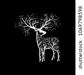 abstract deer  illustration   Shutterstock .eps vector #1069798598