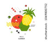 trendy style geometric pattern... | Shutterstock .eps vector #1069800752