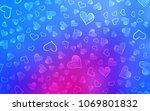 light pink  blue vector... | Shutterstock .eps vector #1069801832