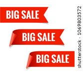 sale banner. realistic red... | Shutterstock .eps vector #1069803572