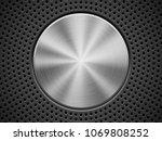 black technology background... | Shutterstock .eps vector #1069808252