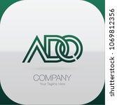 logo letter combinations a  d... | Shutterstock .eps vector #1069812356