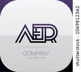 logo letter combinations a  e... | Shutterstock .eps vector #1069812362