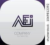 logo letter combinations a  e... | Shutterstock .eps vector #1069812392