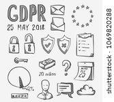 general data protection... | Shutterstock .eps vector #1069820288