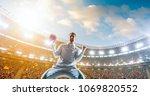 cricket player on a... | Shutterstock . vector #1069820552