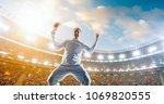 cricket player on a... | Shutterstock . vector #1069820555