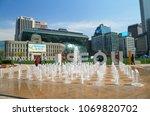 seoul  korea  april 10  2018 ... | Shutterstock . vector #1069820702