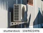 air compressors installed on... | Shutterstock . vector #1069822496