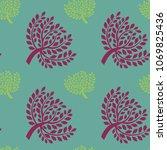 a seamless botanical pattern... | Shutterstock .eps vector #1069825436