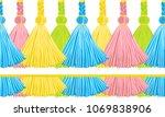seamless border pattern ...   Shutterstock .eps vector #1069838906