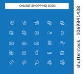 online shopping icons | Shutterstock .eps vector #1069841438