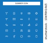 summer line icons | Shutterstock .eps vector #1069841465