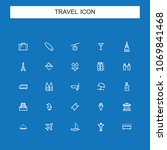 travel and vacation icons | Shutterstock .eps vector #1069841468