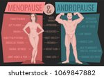 menopause and andropause. men... | Shutterstock .eps vector #1069847882