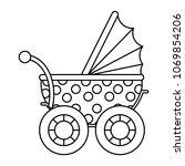 line baby stroller relax... | Shutterstock .eps vector #1069854206