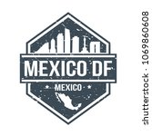 mexico df travel stamp icon...   Shutterstock .eps vector #1069860608