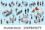 isometric 3d flat design vector ... | Shutterstock .eps vector #1069865675