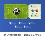 football or soccer ticket... | Shutterstock .eps vector #1069867988
