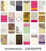 collection of colorful floral... | Shutterstock .eps vector #106986998