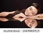 beauty concept  brunette woman... | Shutterstock . vector #1069883915