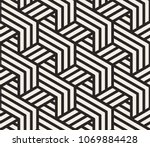 pattern with bold lines and... | Shutterstock .eps vector #1069884428