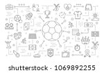 soccer icons set with ball ... | Shutterstock .eps vector #1069892255