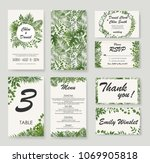 wedding invitation  rsvp modern ... | Shutterstock .eps vector #1069905818