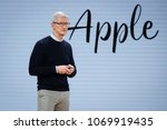Small photo of Tim Cook, Chief Executive Officer of Apple Inc., speaks during the launch event for the iPad 6 at Lane Technical College Prep High School in Chicago, Illinois, U.S., March 27, 2018.
