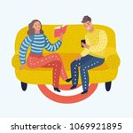 vector cartoon illustration of... | Shutterstock .eps vector #1069921895