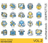 digital nomad   volume 2  icons ... | Shutterstock .eps vector #1069927715