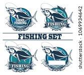 tuna big fishing logo... | Shutterstock .eps vector #1069934642
