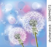 flowers dandelions on light... | Shutterstock . vector #106994072