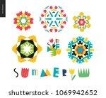 summer kaleidoscopic patterns   ...   Shutterstock .eps vector #1069942652