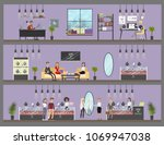 jewelry store interior with...   Shutterstock .eps vector #1069947038