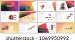 business presentation templates.... | Shutterstock .eps vector #1069950992