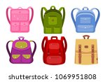 color image of a collection of...   Shutterstock .eps vector #1069951808