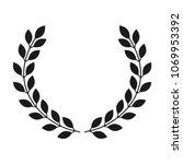 laurel wreath icon on white... | Shutterstock .eps vector #1069953392