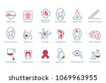 hospital departments icons set... | Shutterstock .eps vector #1069963955