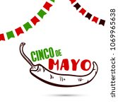 greeting card for cinco de mayo.... | Shutterstock .eps vector #1069965638