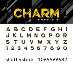 vector of modern alphabet... | Shutterstock .eps vector #1069969682