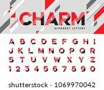 vector of modern alphabet... | Shutterstock .eps vector #1069970042