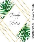 wedding vector art floral...   Shutterstock .eps vector #1069971332